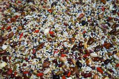 Mixed grain. This is a picture of miscellaneous grains, mixed with a variety of cereals to make the picture vivid stock photos