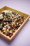 Mixed grains. Various kinds of grains Royalty Free Stock Photo