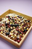 Mixed grains. Various grains, mixed grains, nutrition Stock Photography
