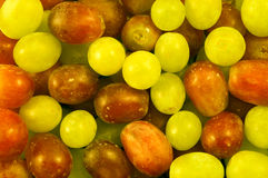 Mixed Grapes. Mixed red and green grapes stock images