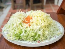 Grated vegetables royalty free stock photography