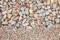 Mixed gravel Royalty Free Stock Images