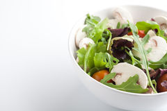 Mixed green salad with mushrooms Stock Photo
