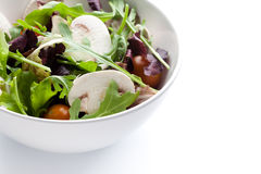 Mixed green salad with mushrooms Royalty Free Stock Photography