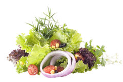 Mixed greens and vegetables. Royalty Free Stock Image