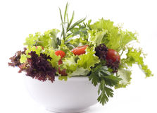 Mixed greens and vegetables. Royalty Free Stock Images