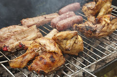 Mixed grill Stock Photography