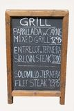 Mixed grill cafe sign Royalty Free Stock Photo