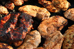 Mixed grill 7 Stock Photos