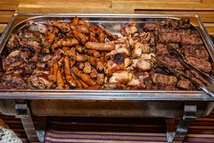 Mixed grill on plate. Mixed grill on the plate royalty free stock photo