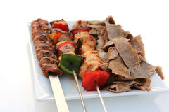 Mixed Grill and Shawarma Stock Image