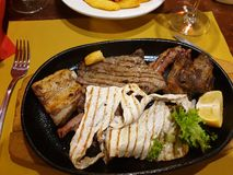 mixed grill stock image