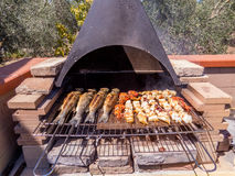 Mixed grilled fish Stock Photo