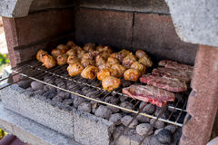 Mixed grilled meat Stock Photography