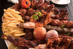 Mixed Grilled meat Stock Image