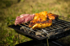 Mixed grilled meats Stock Images