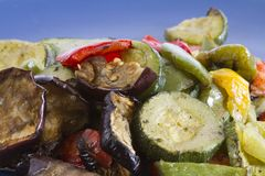 Mixed grilled vegetables Stock Images