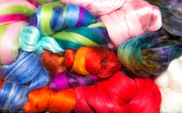 Mixed group of bright wool Stock Photo