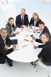 Mixed group in business meeting. At work Royalty Free Stock Photography