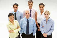 Mixed group business people Stock Photo