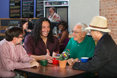 Mixed Group in Cafe Stock Photo