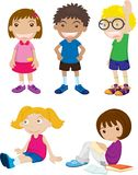 Mixed group of kids Stock Photo