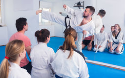 Mixed group of martial arts Royalty Free Stock Photography