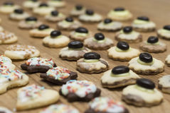 Mixed homemade christmas cookies Stock Images