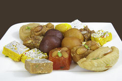 Mixed Indian Sweets Royalty Free Stock Photography