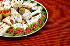 Mixed Indian sweets with copyspace Stock Photo