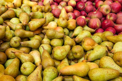Mixed italian fruits. Red apple pear Stock Images