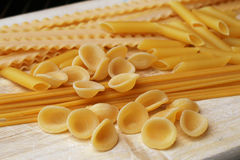 Mixed italian pasta Royalty Free Stock Photo