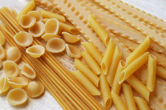Mixed italian pasta Stock Photos