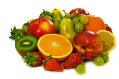 Mixed juicy fruits Royalty Free Stock Photo