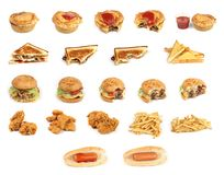 Mixed junk food Royalty Free Stock Photo
