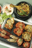 Mixed Kebab - A grilled meat snack. Mixed Kebab refers to a variety of meat dishes in Indian and South Asian cuisines, consisting of grilled or broiled meats on Royalty Free Stock Photography