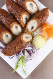 Mixed Kebab - A grilled meat snack Royalty Free Stock Photos