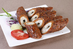 Mixed Kebab - A grilled meat snack Royalty Free Stock Photo
