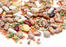 Mixed Legumes royalty free stock image