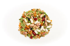 Mixed legumes and cereals Stock Photos