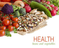 Mixed legumes and vegetables Stock Images