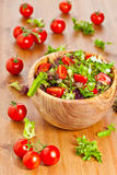 Mixed lettuce salad and tomatoes Stock Photos