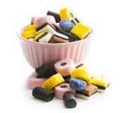 Mixed liquorice candies. Stock Photos