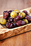 Mixed marinated olives Royalty Free Stock Photography