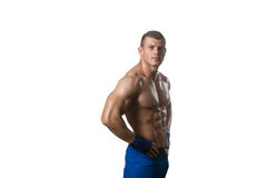 Mixed Martial Arts Fighter Ready To Fight Stock Image