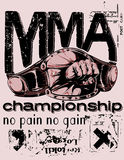 Mixed martial arts. Illustration design available in vector format Stock Images