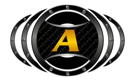 Mixed Martial Arts letter A Royalty Free Stock Photos
