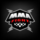 Mixed martial arts logo. Stock Image
