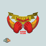 Mixed Martial Arts logo. MMA emblem. MMA emblem. Mixed Martial Arts logo Royalty Free Stock Images