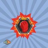 Mixed Martial Arts logo. MMA emblem. MMA emblem. Mixed Martial Arts logo Stock Image